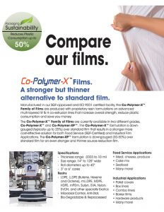 Co-Polymer-X Films sell sheet