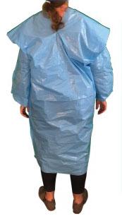Polyethylene Isolation Gown Back