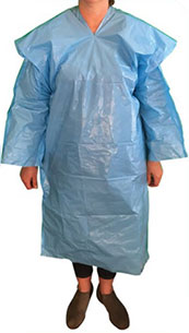 Polyethylene Isolation Gown Front